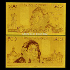 BILLET 500 FRANCS PASCAL 1991 REPLICA OR GOLD 24K