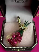 2009 NWT JUICY COUTURE PINK ROSES CHARM HTF YJRU3788 RETIRED
