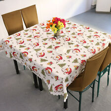 Christmas Santa Claus Tablecloth White, Christmas Table Decoration,  180 * 150cm