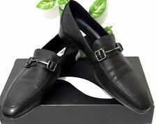 Moschino Italy Black Loafer Dress Men's Shoes Size US 12 EU 45 RETAIL $450 NEW