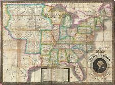 GEOGRAPHY MAP ILLUSTRATED ANTIQUE WEBSTER USA LARGE POSTER ART PRINT BB4509A