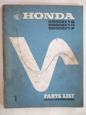 manuel pieces detachées moto HONDA SS 50 ZK1 SPORT 1972 PARTS-LIST
