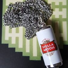 UNIQUE Cool STELLA ARTOIS CAN NECKLACE novelty LAGER beer HANDMADE miniature