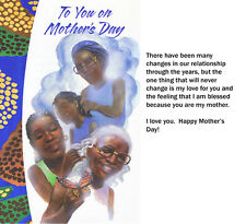 African American Greeting Cards_Mother's Day Memories (Older)