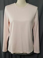 L.L. Bean Pink Long Sleeve 100% Supima Cotton Top/Shirt Womens Size Medium