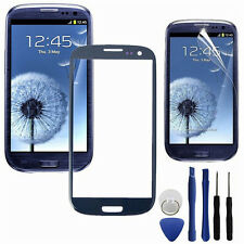 Blue Front Glass Lens Touch Screen Digitizer For Samsung Galaxy SIII S3 i9300