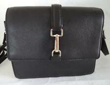 BLACK MARKS & SPENCER AUTOGRAPH LEATHER SHOULDER BAG HANDBAG
