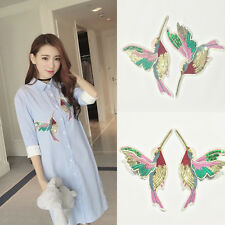 Women Double Wing Birds Embroidered/Sequin Iron On Clothes Applique Patch Decor