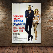 Original Poster 007 James Bond Doctor No - Licenza Di Uccidere 140x200 CM