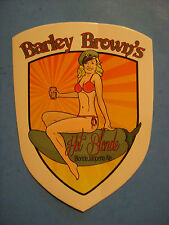 Beer STICKER ~*~ BARLEY BROWN'S Hot Blonde Jalapeno Ale ~*~ Baker City, OREGON