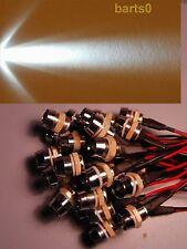 10X 10mm weiß WEISSE LED 18.000mcd Chromfassung 12Volt LEDSCHRAUBE SCHRAUBE