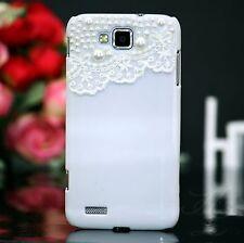 Samsung Galaxy ATIV S GT-i8750 Caso Hardcase Funda Paragolpes Perlas Blanco 3D