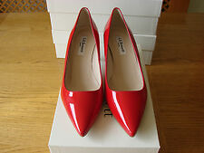 LK Bennett Octave Tomato Red Pointed Patent Leather shoes size 4.5 UK, 37.5 EU