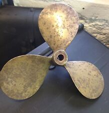 VINTAGE NAUTICAL MARINE BRONZE/BRASS 3 BLADE BOAT PROPELLER 15x15