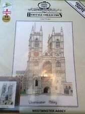 Westminster Abbey, London Counted Cross Stitch Kit by Heritage   NEW Fabulous