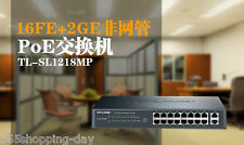 TP-LINK TL-SL1218MP 16-port PoE Switch with 2 RJ-45 Gigabit Up to 30W per port