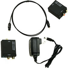 Digital Optical Toslink Coaxial Signal to Analog Stereo Audio Converter Cable