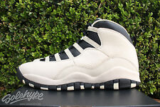 NIKE AIR JORDAN 10 RETRO GS PRM X SZ 5 Y HEIRESS PEARL WHITE BLACK 832645 207
