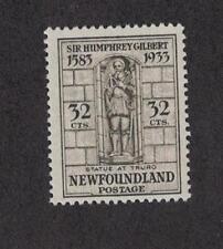Newfoundland 225 - Gilbert Statue At Truro  32 Cent.  MNH. OG.     #02 NEW225h