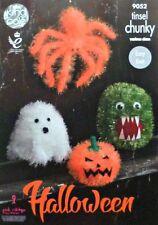 Araña de Halloween De Punto Tejer patrón fácil Fantasma Calabaza monstruo Grueso 9052