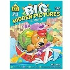 Big Hidden Pictures and More by School Zone Staff (2012, Paperback) New Workbook