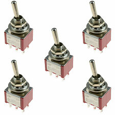 5 x On/On Mini Toggle Switch Car Dash Dashboard DPDT 12V