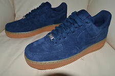 New Nike Womens AF1 Air Force 1 07 Suede Shoes 749263-400 Sz 9 Navy Blue