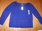 NWT WOMENS CHELSEA & THEODORE LONG SLEEVE SWEATER BLUE M MEDIUM