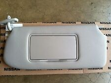 NEW OEM NISSAN SENTRA 2010-2012 DRIVERS SUNVISOR WITH VANITY MIRROR - GREY COLOR