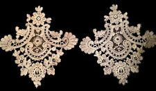 Two Antique Schiffly Lace Trims Inserts Beautiful Victorian Pattern  II