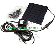 1.2W 7V Solar Power Pond Oxygenator Air Pump Oxygen Pool Fishpond Fish NEW CA G