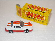 "Matchbox Superfast Nr. 02 ""Pontiac Fiero"", weiß-orange, USA Version mit USA Box"