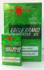 EAGLE Brand Medicated Oil - 1 Dozen (24 ml x 12) - DAU GIO XANH CON O