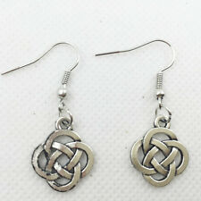 New 1 pair Free shipping Fashion Antique silver Jewelry Chinese knot earring @/