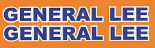 General Lee Roof Text Decal Dukes of Hazzard  stickers charger decals