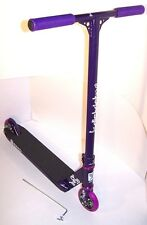 Vintage DISTRICT V2 KICK SCOOTER PURPLE COMPLETE ST-1 P BARS ENVY 110 NEW