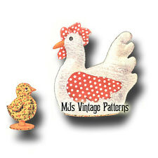 Stuffed Chicken and Baby Chick ~ a Vintage Pattern