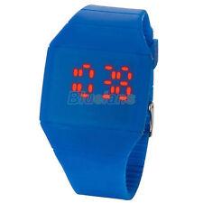 Al por mayor 8pcs Fashion Pantalla Digital Led Rojo Pantalla Táctil Reloj De Pulsera