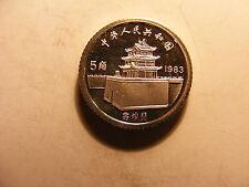 China 1983 Silver Proof 5 Jiao, Marco Polo, KM#65