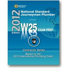 W25 National Standard Journeyman Plumber Practice Questions Workbook ICC Exam