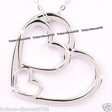 BLACK FRIDAY DEAL SALE Silver Heart Necklace Jewellery Women Xmas Gifts For Her