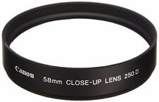 Canon Official 58mm CLOSE-UP Lens 250 D Macro Close Up Lens New Japan