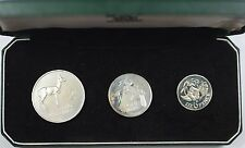1964 Bank of Zambia Three Coin Proof Set in Original Cardboard Box