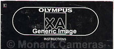 Olympus XA2 Instruction Book for Camera with A11 Flash Unit, More Manuals Listed