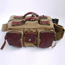 Waterproof Canvas DSLR SLR Canon Nikon Sony Camera Waist Bag Pack Padded Insert