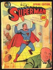 Superman #4 (1940) Poor (0.5) Incomplete ~ Luthor