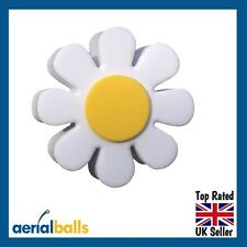 Cute White Daisy Flower Car Aerial Ball Antenna Topper