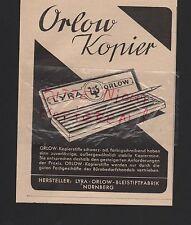 NÜRNBERG, Werbung 1941, Lyra-Orlow-Bleistiftfabrik Kopierstift