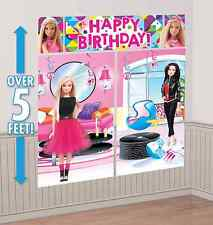 Barbie Sparkle Scene Setters Happy Birthday Decoration Banner Party Favor Supply