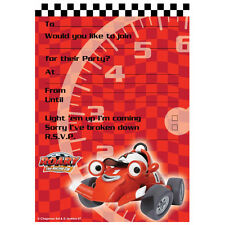 20 Pack ROARY THE RACING CAR PARTY INVITATIONS & Envelope Birthday Invites Kids
